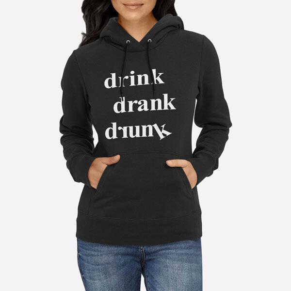 Ženski pulover s kapuco Pijan