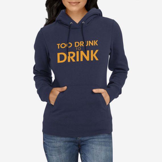 Ženski pulover s kapuco Preveč vinjen