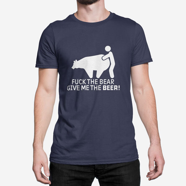 Moška kratka majica Jebi medveda