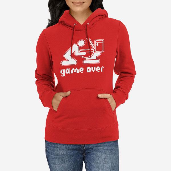 Ženski pulover s kapuco Game Over Drink