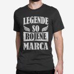 Moška kratka majica Legende so rojene marca