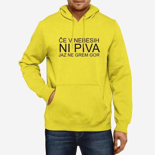 Moški pulover s kapuco Ni piva