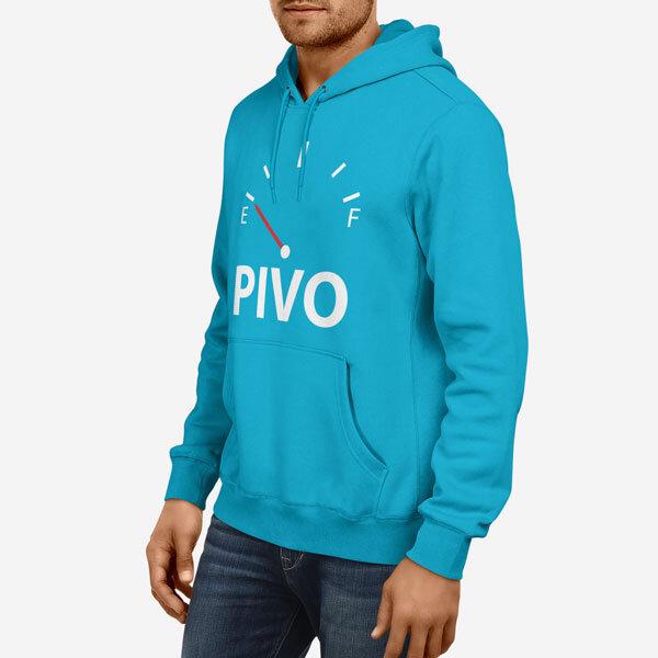Moški pulover s kapuco Prazen tank