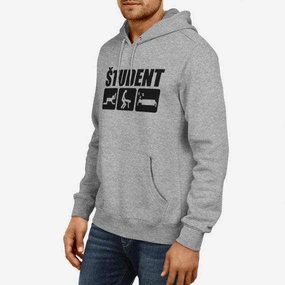 Moški pulover s kapuco Študent
