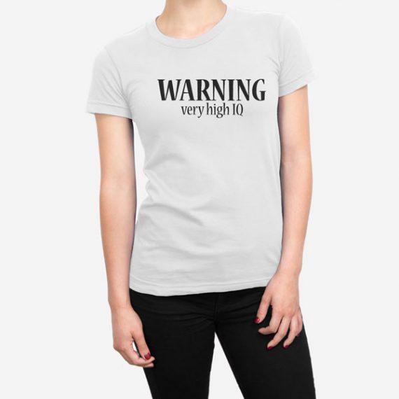 Ženska kratka majica Warning IQ