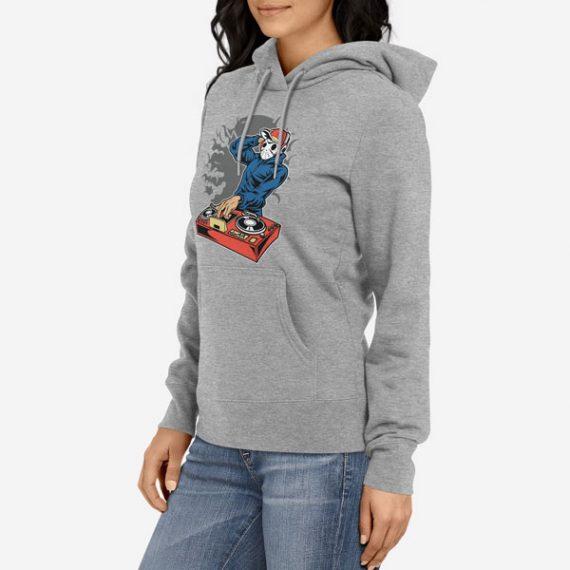 Ženski pulover s kapuco Dj Killer