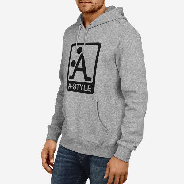 Moški pulover s kapuco A style