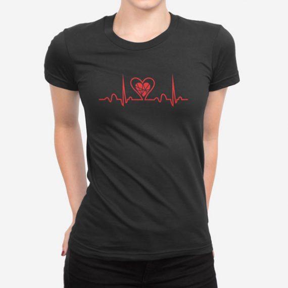 Ženska kratka majica Aritmija