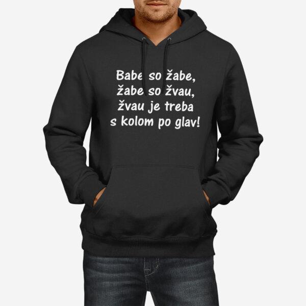 Moški pulover s kapuco Babe so žabe