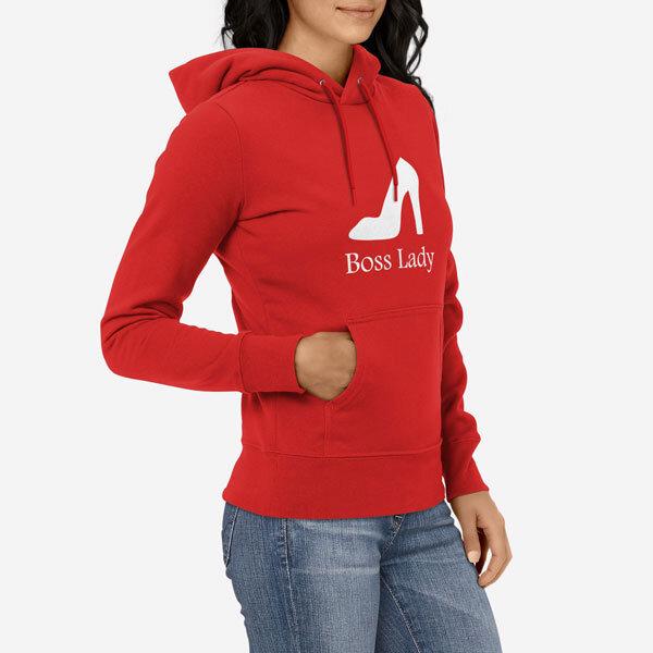 Ženski pulover s kapuco Boss Lady
