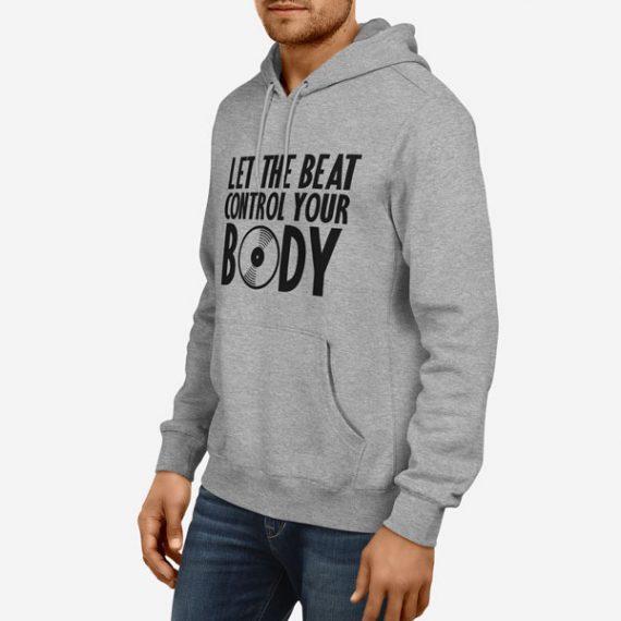 Moški pulover s kapuco Nadzor