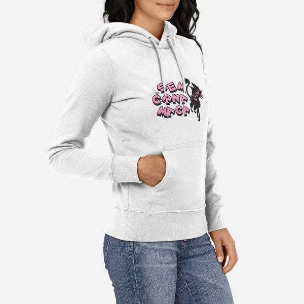 Ženski pulover s kapuco Muca Maca