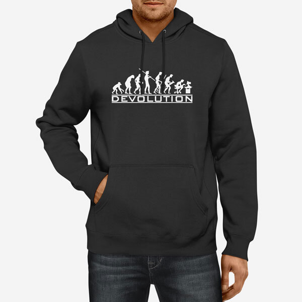 Moški pulover s kapuco Devolution
