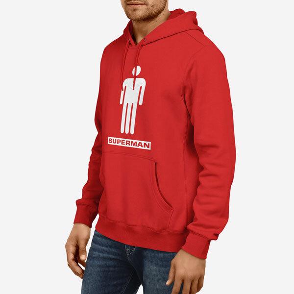 Moški pulover s kapuco Superman penis
