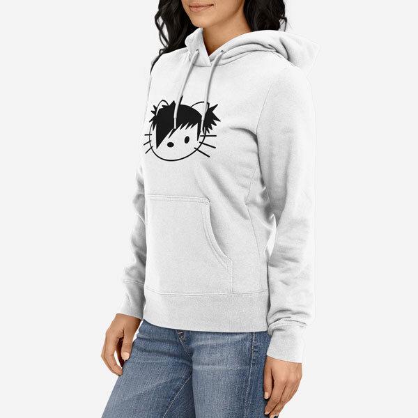 Ženski pulover s kapuco Emo Kitty