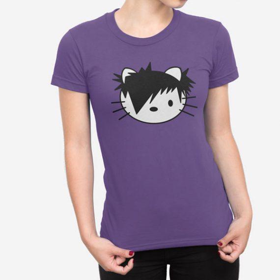 Ženska kratka majica Emo Kitty