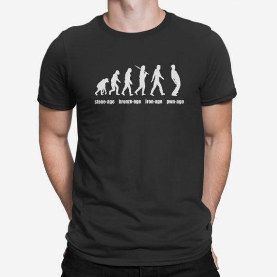 Moška kratka majica Evolucija starosti