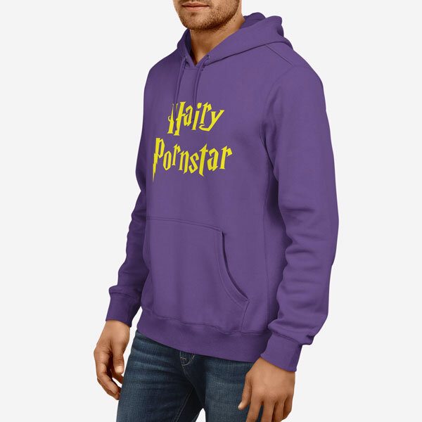 Moški pulover s kapuco Hairy Pornstar