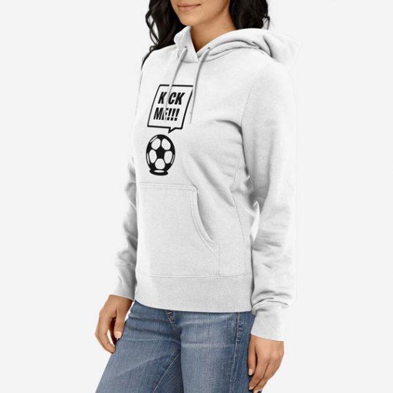 Ženski pulover s kapuco Kick Me