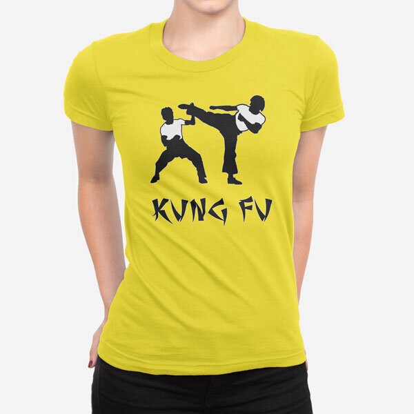 Ženska kratka majica Kung Fu