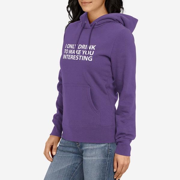 Ženski pulover s kapuco I Only Drink