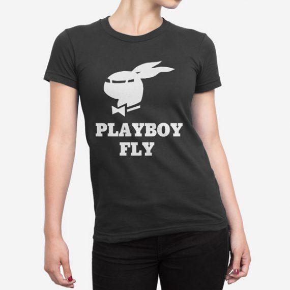 Ženska kratka majica Playboy Fly