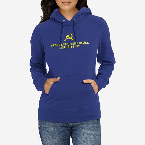 Ženski pulover s kapuco Proletarci