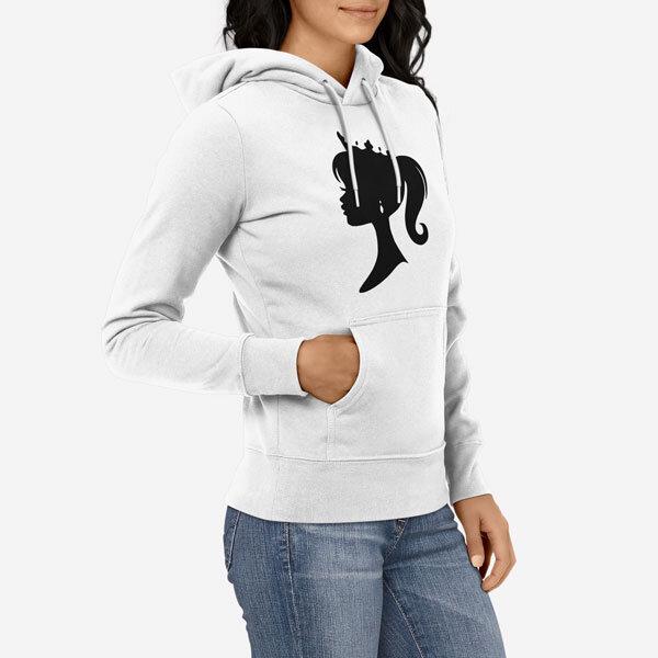 Ženski pulover s kapuco Kraljica