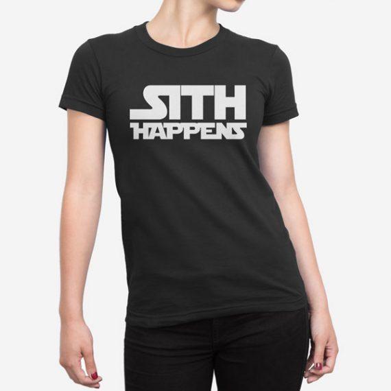 Ženska kratka majica Sith Happens