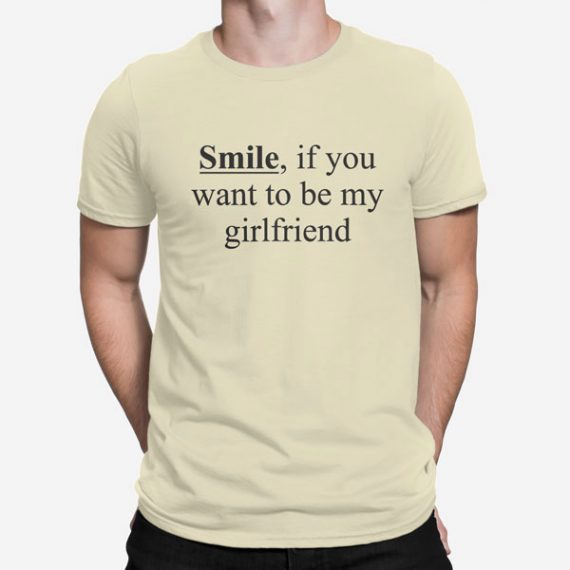Moška kratka majica Smile Girlfriend