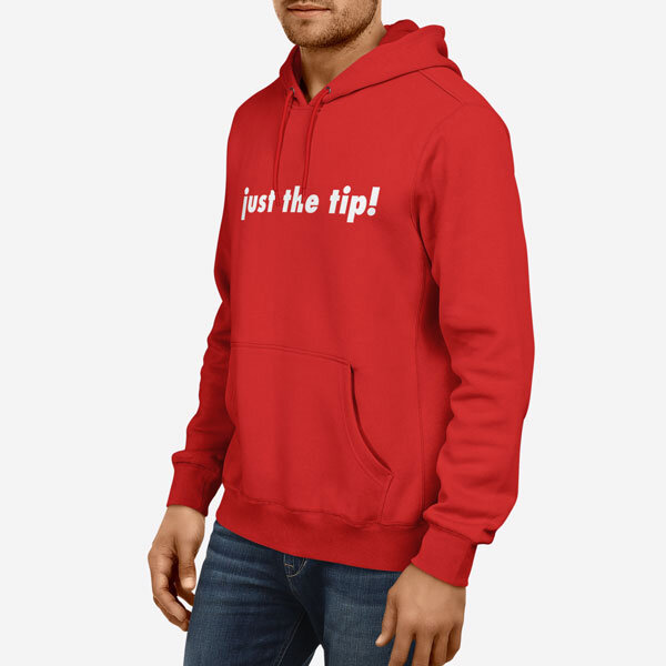 Moški pulover s kapuco Just the tip