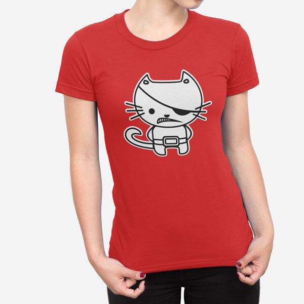 Ženska kratka majica Kitty Pirate