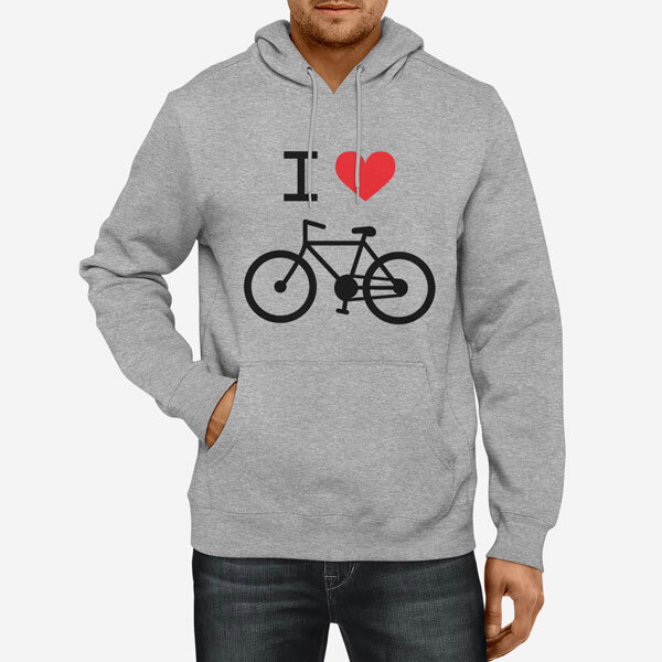 Moški pulover s kapuco I Love Bike