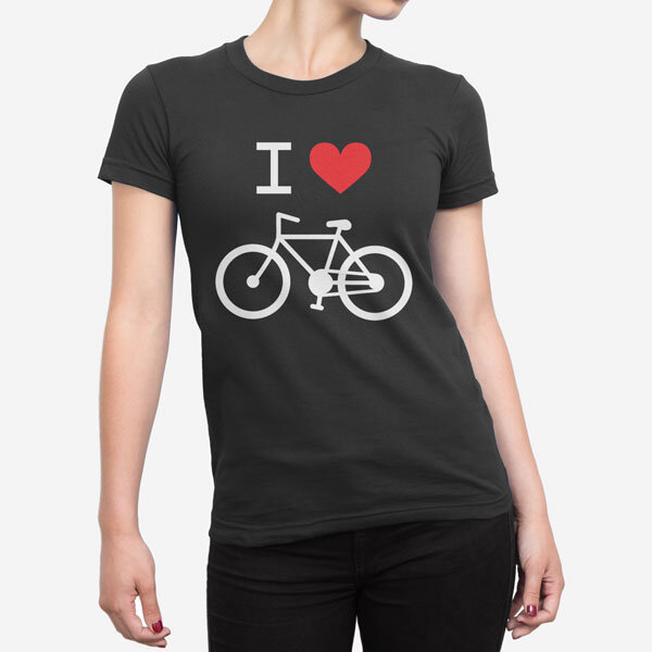 Ženska kratka majica I Love Bike