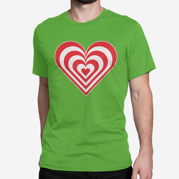 Moška kratka majica Zebra srce