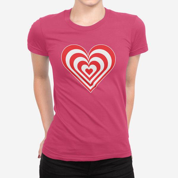 Ženska kratka majica Zebra srce