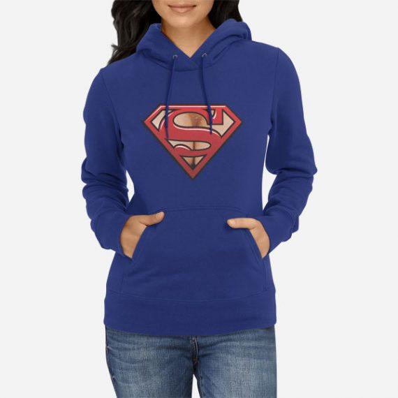 Ženski pulover s kapuco Super prsi