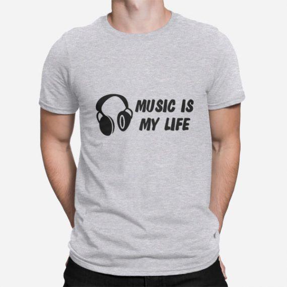 Moška majica kratek rokav Music is my life