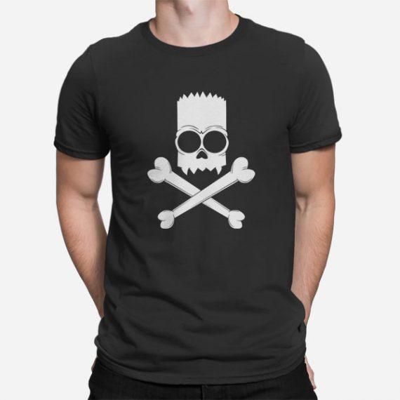 Moška kratka majica Bart Simpson lobanja