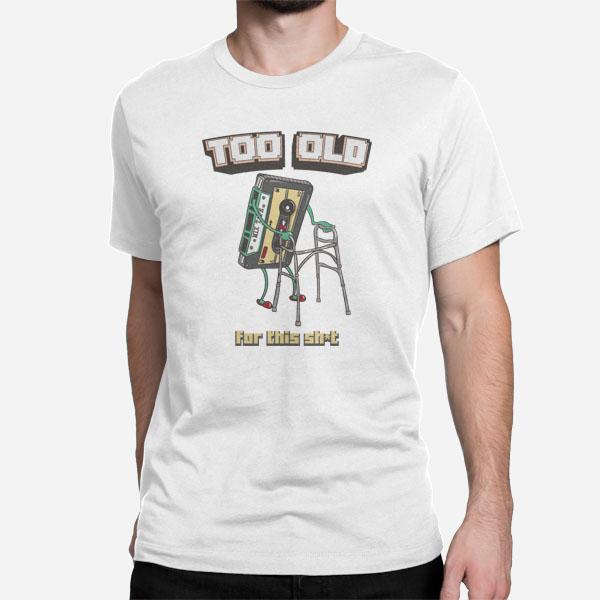 Moška kratka majica Mixtape Prestar sem za to sranje