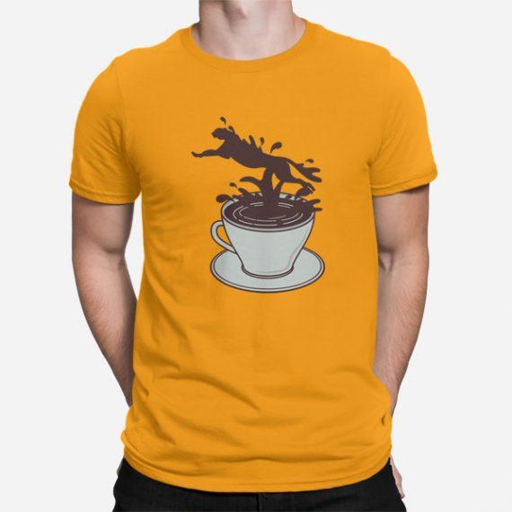 Moška kratka majica Kavni Gepard