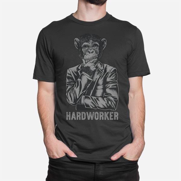 Moška kratka majica Trdo delam