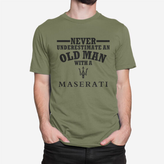 Vojaška moška kratka majica Maserati